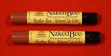 Naked Bee 2 sticks Heather Rose Lip Color All of the Good Stuff Organic
