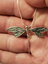 """Sterling Silver Dragonfly Pendant with 20"""" Sterling Silver Chain"""