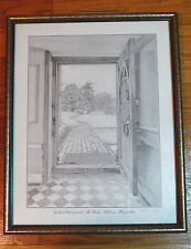 Frederick Marns pencil signed 1976 print Gilbert White's path Selborne Hampshire