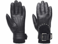 Harley-Davidson Ladies Paxton 3-in-1 Leather Gloves, 97397-14VW, XL, RRP £92.00
