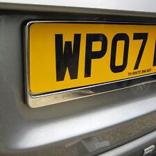2x Abs Negro placa de matrícula rodea titular Marco Para Land Rover Freelander