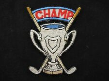 #3515 Golf Trophy,Trophy,CHAMP word Embroidery Iron On Applique Patch