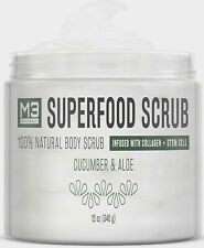 M3 Naturals Pore Minimizing Body and Face Exfoliating Facial Wash 12 Oz.