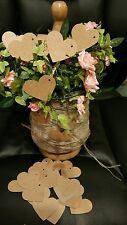 100 Kraft Heart Gift Tags / Wedding Favours/ Wedding Wish Tree. SP