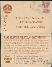 GOLD COAST BEGORO POSTMARK 1d to USA PHILATELIC SOCIETY CARD SPA 1947