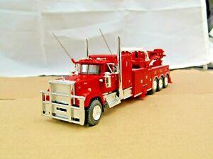 "Dcp Custom red Mack Superliner 60""flattop tri axle rotator wrecker 1/64"
