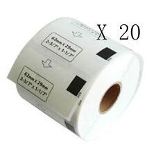 20x Etichette Compatibili per Brother DK-11209 29mmX62mm QL-570 500 Senza Telaio
