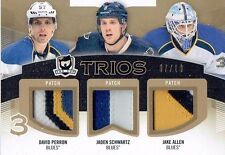 12-13 UD The Cup Trios  David Perron--Jaden Schwartz--Jake Allen  /10  Patches