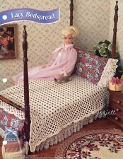 Lacy Bedspread ~ fits Barbie dolls, Annie's crochet pattern leaflet