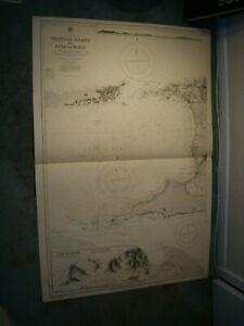 Vintage Admiralty Chart 483A - TRINIDAD ISLAND, WEST PART & G OF PARIA 1915 edn