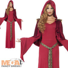 Red High Priestess Gothic Medieval Fancy Dress Costume Mother Gothel Disney L