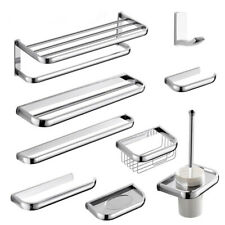 Polished Chrome Wall Mounted Bathroom Hardware Bath Accessory Set Towel Bar