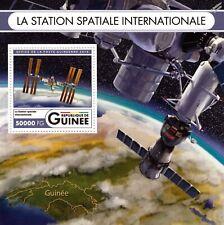 INTERNATIONAL SPACE STATION (ISS) Earth Orbit Satellite Stamp Sheet/2016 Guinea