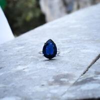 Luxuriant Tanzanite Gemstone 925 Sterling Silver Handmade Ring All Size