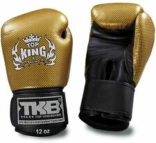 """Top King """"Empower Creativity"""" Boxing Gloves - Gold & Black"""