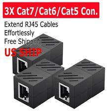3Pcs Cat5e RJ45 Coupler Plug Network LAN Cable Joiner Extender Connector Adapter