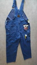 NEW Tag Men's Work n Sport Dark Blue Relaxed Overalls Cotton Jeans Size 48 x 32