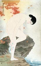 Japanese Woodblock Bathroom Bath Decor Poster Print Shinsui Ito 11x16 repro