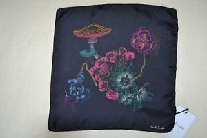 Paul Smith Mainline Wild Flowers Silk Pocket Square Mens Brand New