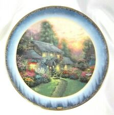 Thomas Kinkade Limited Collector Plate 1998 Julianne's Cottage Peaceful Retreats