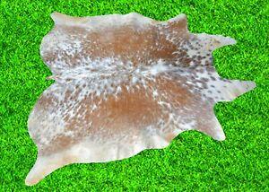 """New Cowhide Rug Hair On Brown COWHIDE Area Rug (46"""" x 48"""") Cow Hide Rug 15.3SF"""