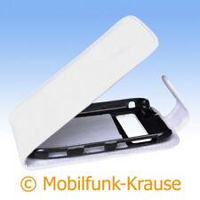 Flip Case Etui Handytasche Tasche Hülle f. Nokia C7 (Weiß)