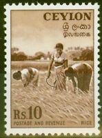 Ceylon 1954 10R Red-Brown SG430 V.F MNH