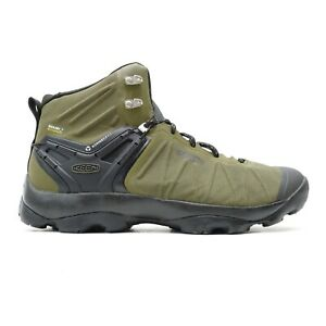 Keen Mens Venture Mid Green Nylon WP Outdoor Hiking Boots Shoes US 11 EU 44.5
