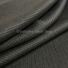 10 Metres Of Soft Cosy Chenille Texture Velvet Interior Upholstery Fabric Grey