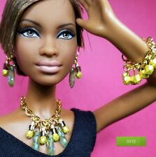 S918 Beaded Doll Jewelry Silkstone Barbie Fashion Royalty for collectors