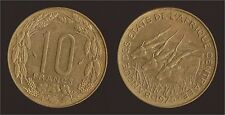 AFRICA CENTRALE 10 FRANCS 1975 BANQUE DES ETATS DE L'AFRIQUE CENTRALE