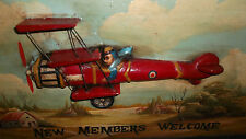 WOOD WALL HANGING    CAPT. JACOBS FLYING CLUB