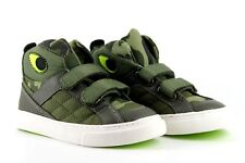 GAP Infant Kids Boys UK 8 Green Camouflage Touch Close Hi Top Trainers Shoes
