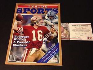 Joe Montana 49ers HOF 1982 Inside Sports Magazine Mag Signed Auto PSA/DNA COA