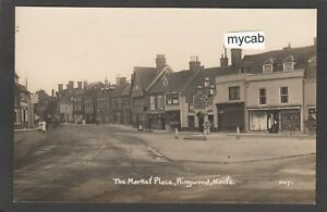 Postcard Ringwood nr Burley New Forest Hampshire the Market Place early RP Rood