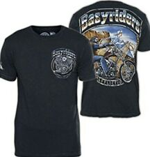 AFFLICTION men t-shirt Easyriders Ghost Rider A11786 Black T-shirt NWT biker