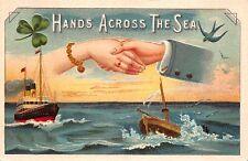 Postcard Hands Across The Sea, Ships in the Ocean~112657