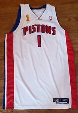 2005 CHAUNCEY BILLUPS DETROIT PISTONS JERSEY NBA FINALS TEAM ISSUED GAME WORN?