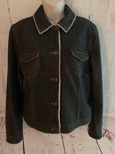 Ann Taylor Loft Women's Size Large Denim Fleece Lined Jean Jacket Coat New