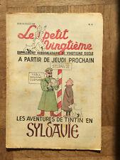 Tintin - Hergé - Le Petit Vingtieme du 28 juillet 1938 - N30 -  TBE