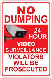 "No Dumping Violators Will Be Prosecuted 8""x12"" Aluminum Sign"