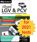 LGV PCV Theory Test & Hazard Perception PC DVD-ROM FOR 2021 TESTS <br/> LGV, HGV, PCV LATEST EDITION - FOR WINDOWS PC OR LAPTOP