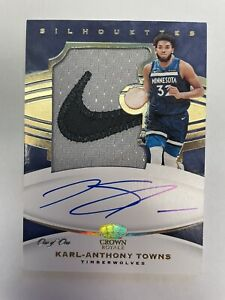 2020 2021 Panini Crown Royale Karl Anthony Towns Game Worn Auto One Of One 1/1!!