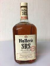 Haller's SRS 8yo Special Stock Reserve Blended Whiskey Half Gallon 86 Proof ,71'