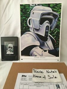 #1/1 Topps Star Wars Living Set LE GOLD Print/Signed Sketch COMBO, Scout Trooper