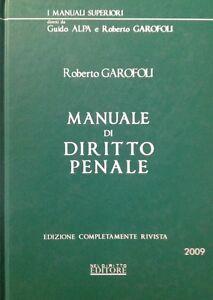 Manuale di Diritto Penale Guido Alpa Roberto Garofoli Nel Diritto Editore 2009