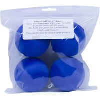 """Handy Hands Decor Satin Covered Styrofoam Balls 3"""" 4/Pkg-Dark Blue, SBN3-DB"""