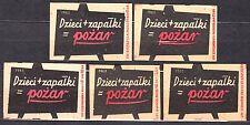 POLAND 1960 Matchbox Label - Cat.Z#170 set,  Children + match = fire