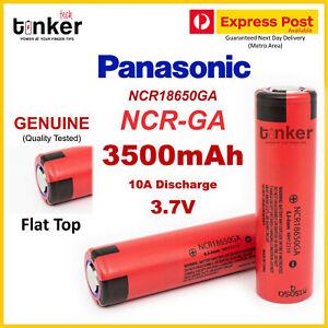 Panasonic NCR 18650 GA 3500mAh 10A 3.7v Lithium Ion Li-ion Flat Top / Button Top