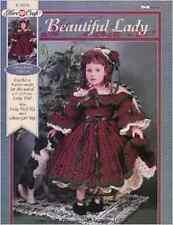 Vintage Crochet Pattern Fibre Craft FCM476 Lady Dolls Outfit